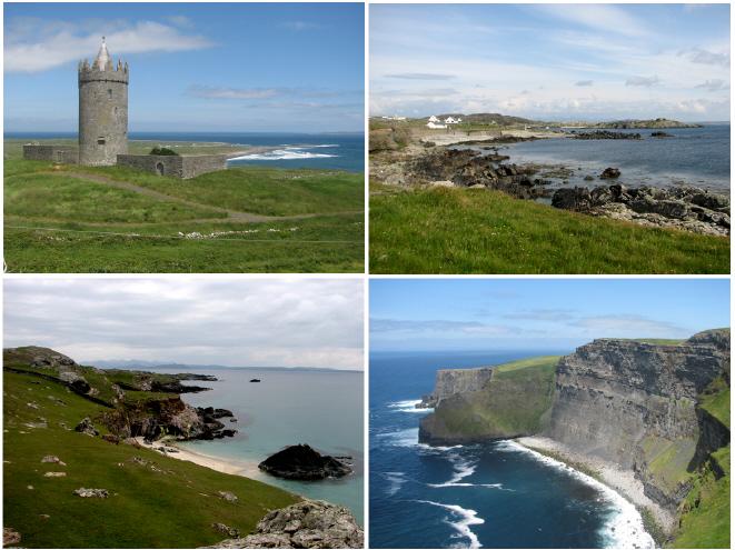 Irlandii Północnej Zabytki Wybrzeże Irlandii Północnej